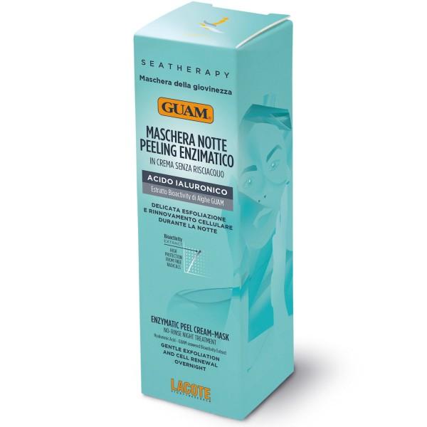 GUAM Enzympeeling-Gesichtsmaske für die Nacht mit Hyaluronsäure 75 ml
