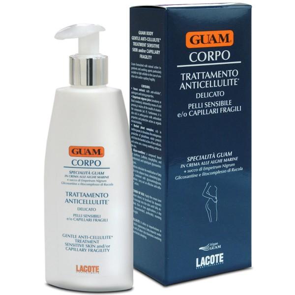 GUAM CORPO Creme für empfindliche Haut gegen Cellulite, Wasseransammlungen und Besenreiser 200ml