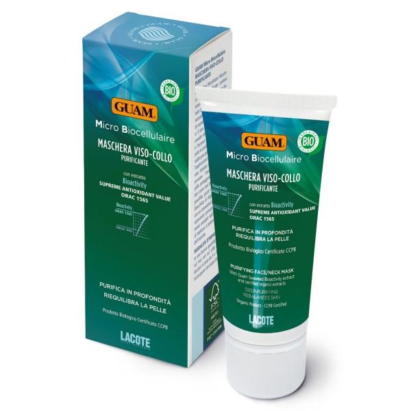 GUAM Micro Biocellulaire reinigende Maske für Gesicht und Hals 75ml