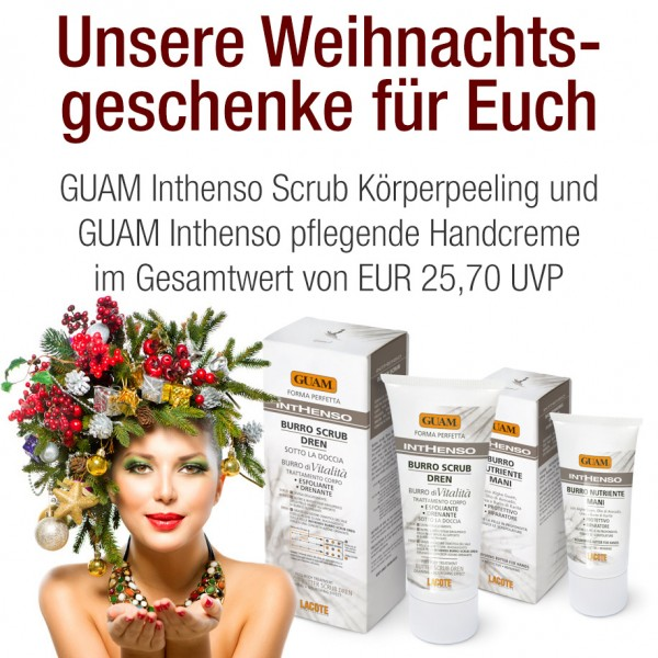 GUAM Inthenso Körperpeeling 150ml + Handcreme 50ml